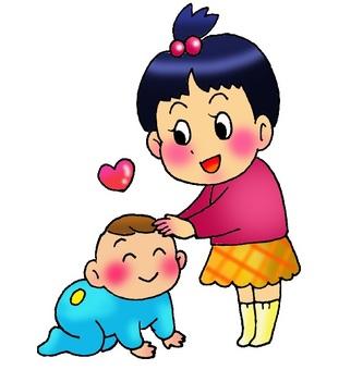 아기를 귀여워 언니