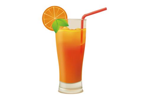 Orange juice illustration