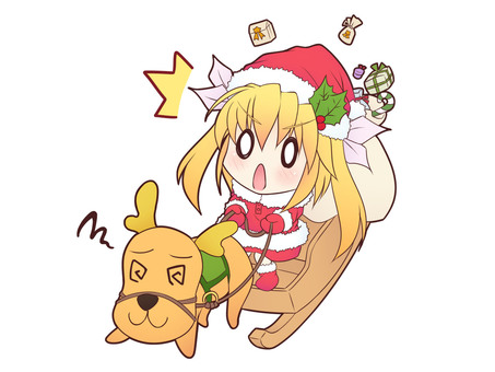 Santa and reindeer Re_C