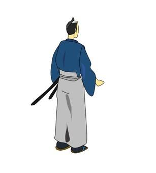 무사의 뒷모습