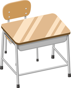 Desk and chair in the classroom