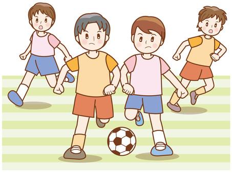 Soccer boy line D
