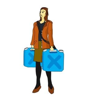 A woman who came to buy kerosene