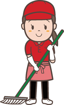 Cleaning staff woman