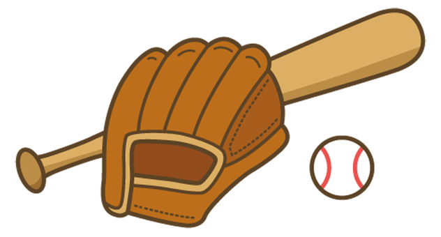 Baseball (bat and glove and ball)