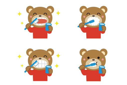 Toothpaste bear