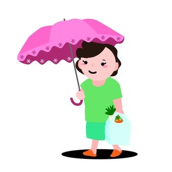 A parasol woman 2