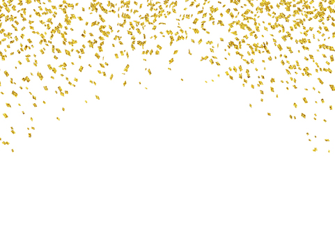 Golden confetti (top)