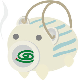 Mosquito coil incense pig