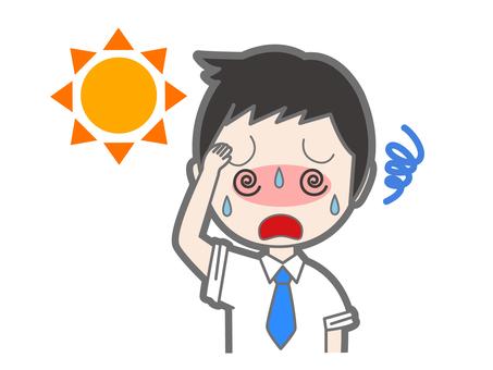Men with heatstroke