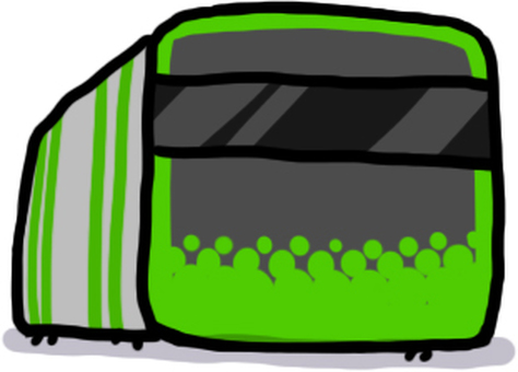 Yamanote line (frontal side)