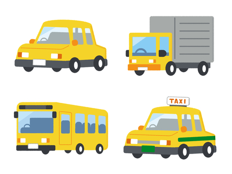 Car Vehicle Vehicle Set Yellow