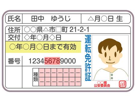 Driver's license male