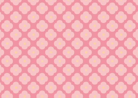 Flower pattern retro (pink)