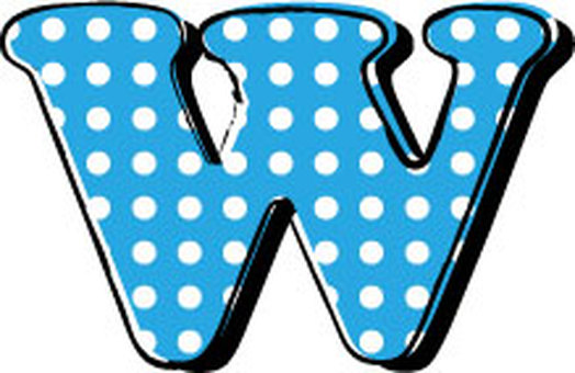 Dotted alphabet W