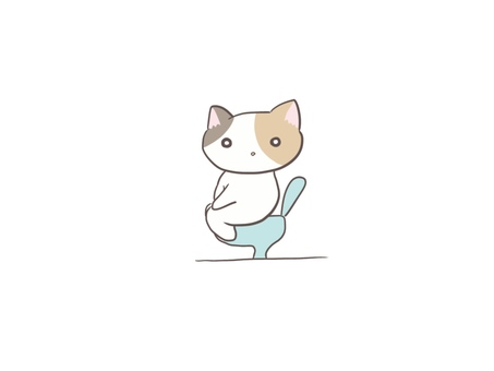 Calico cat in the toilet