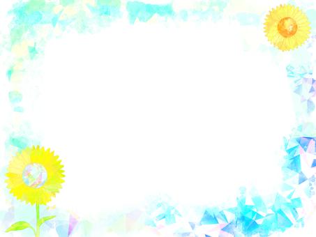 해바라기 프레임 (하늘색)