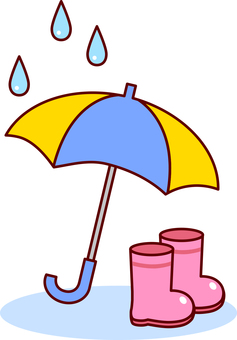 Umbrellas and boots