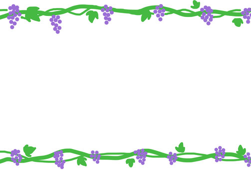 Grape and ivy frame