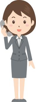 Women   OL   Suit   Telephone