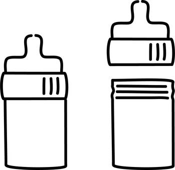 Hand drawn rough-baby bottle