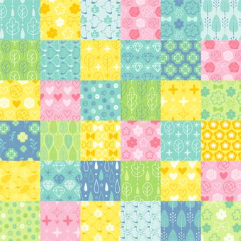 Patchwork style pattern set