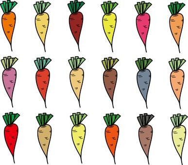 多彩的胡蘿蔔