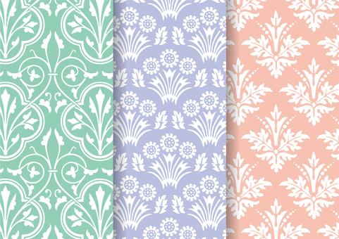 European pattern wallpaper set 01