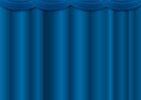 Curtain call blue