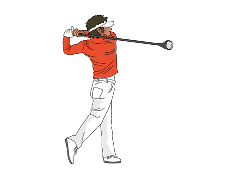 Golf player 2 (driver shot)