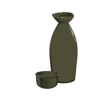 Japanese sake (brown)