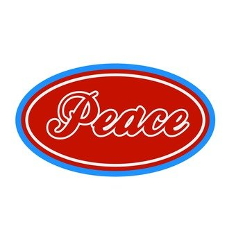 Patch - Peace (red)