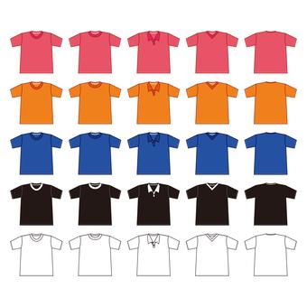 多彩多姿的襯衫材料填充集