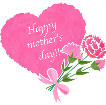 Illustration of mother's day _ heart _ frame
