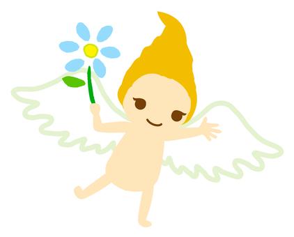 Angel · Blue Flower 01