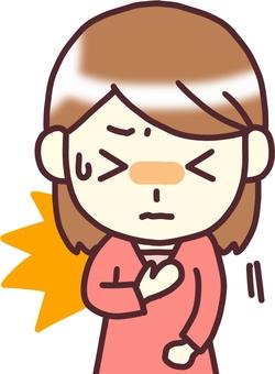 V] [women's PW v under the chest pain