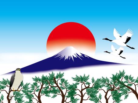 Fuji, Hawk and Tsuru