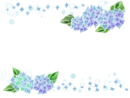 花フレーム 21(紫陽花)