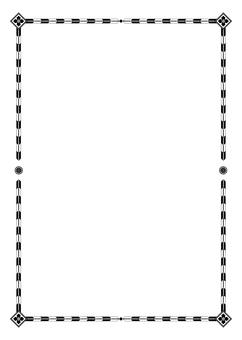 Japanese style A4 frame (black)