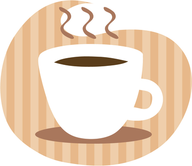 Coffee cup (striped background)