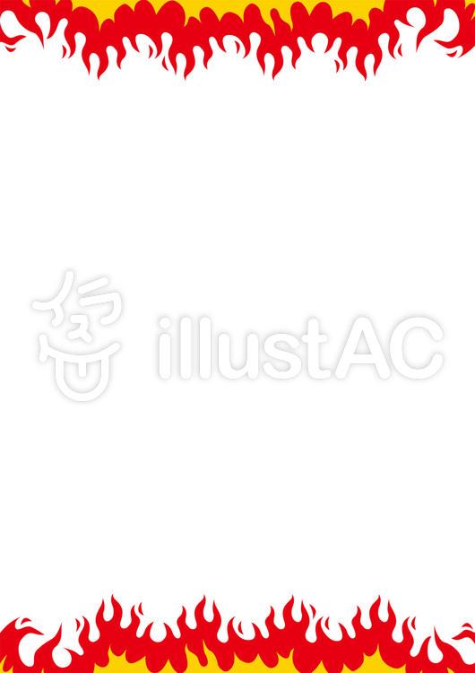 炎フレームパチンコ店 広告チラシ用イラスト No 1096039無料