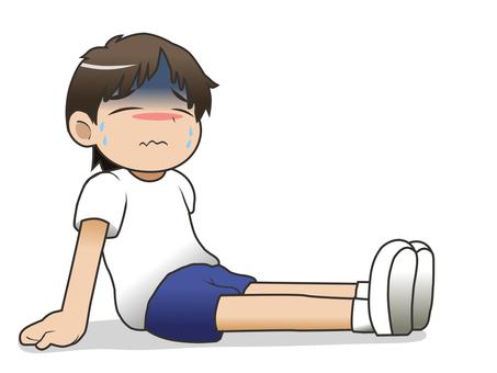 熱中症の男の子