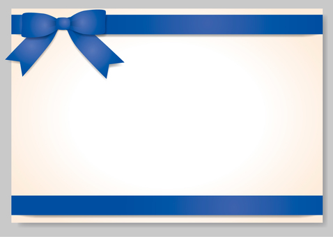 Frame with ribbon (blue) separately