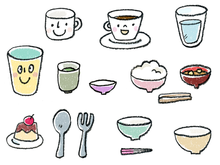 Dietary illustration color