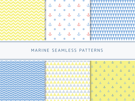 Marine style pattern set - 2