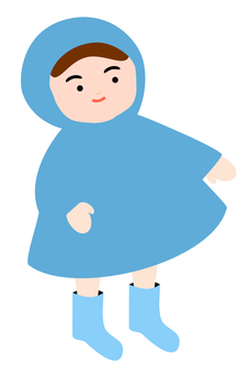 Child wearing blue kappa