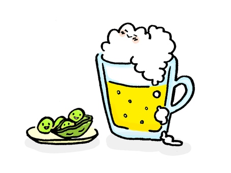Beer and green soybeans