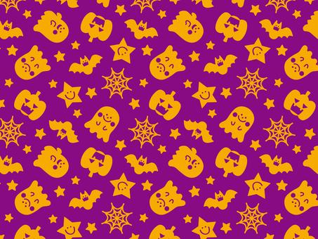Halloween pattern purple