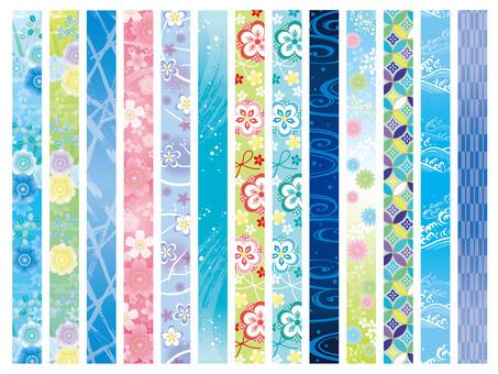 薄垂直线日本模式春夏