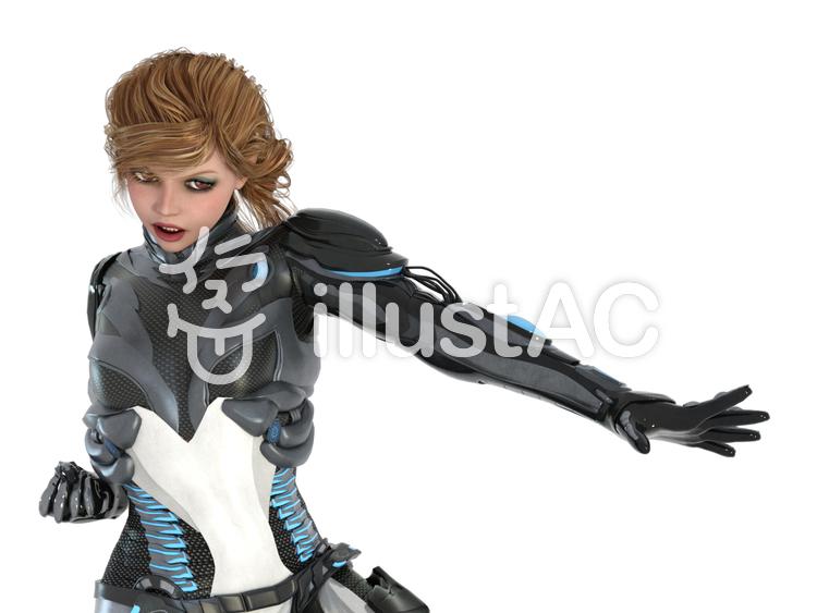 惑星パトロール女子のイラスト
